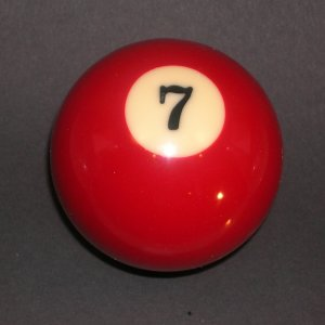 CUSTOM POOL BILLIARD BALL GEAR SHIFTER SHIFT KNOB #7