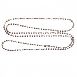 "Stainless Steel 27"" Ball Chain Necklaces 2.4mm Bead Military dog tag chains"