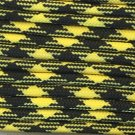 PARACORD 550 LB PARACHUTE CORD MIL SPEC TYPE III **WITH FREE BUCKLES* (BLACK N YELLOW, 100FT)