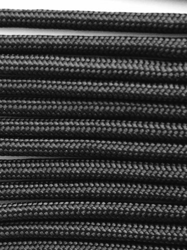 PARACORD 550 LB PARACHUTE CORD MIL SPEC TYPE III **WITH FREE BUCKLES** (BLACK 20FT)
