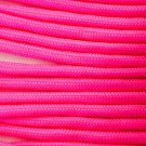 """PARACORD 550 LB PARACHUTE CORD MIL SPEC TYPE III **WITH FREE BUCKLES** (HOT PINK, 50 ft)"""