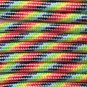 PARACORD 550 LB PARACHUTE CORD MIL SPEC TYPE III **WITH FREE BUCKLES** (LIGHT STRIPES 50FT)