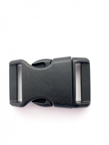 "1"" Contoured Side Release Buckles for Paracord Bracelets(black, 50 pack)"