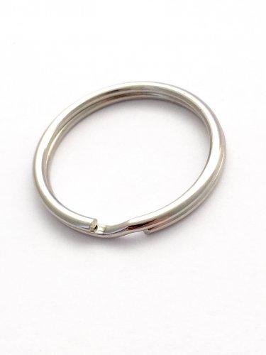 100 Nickel 1.25 inch Split Rings