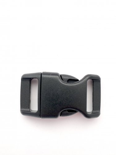 "5/8"" Contoured Side Release Buckles for Paracord Bracelets(black, 25 pack)"