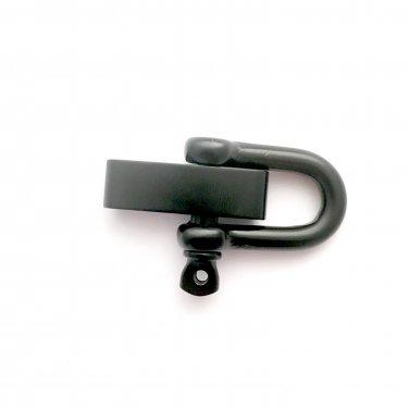 """Black (5mm) Adjustable """"D"""" Shackles -10"""
