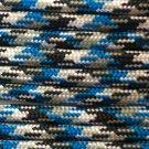 PARACORD 550 LB PARACHUTE CORD MIL SPEC TYPE III (BLUE CAMO 1FT)