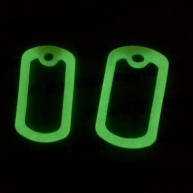 50 - YELLOW GLOW IN THE DARK MILITARY ARMY DOG TAG ID SILENCER RUBBER/SILICON