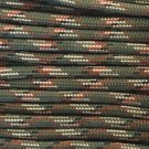PARACORD 550 LB PARACHUTE CORD MIL SPEC TYPE III **WITH FREE BUCKLES** (GREEN CAMO 5FT)