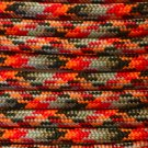 PARACORD 550 LB PARACHUTE CORD MIL SPEC TYPE III **WITH FREE BUCKLES** (LAVA 1FT)