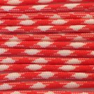 PARACORD 550 LB PARACHUTE CORD MIL SPEC TYPE III **WITH FREE BUCKLES** (ORANGE/WHITE 5FT)