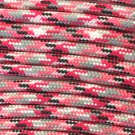 PARACORD 550 LB PARACHUTE CORD MIL SPEC TYPE III **WITH FREE BUCKLES** (PINK CAMO 1FT)