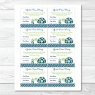 "Mod Green Turtle Printable Baby Shower ""guess How Many?"" Game Cards #A126"