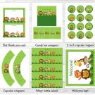 Jungle Animals Safari Friends Printable Baby Shower Party Package #A136