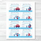 "Around The Town Transport Printable Baby Shower ""guess How Many?"" Game Cards #A137"