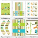 Dinosaur Friends Printable Birthday Party Package #A140
