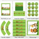Safari Jungle Animals Printable Birthday Party Package #A156