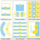 Lil Rubber Duck Baby Boy Printable Baby Shower Party Package #A176