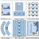 Ahoy Mate Nautical Whale Island Monkey Printable Baby Shower Party Package #A171