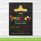 Fiesta Baby Shower Invitation Chalkboard Fiesta Printable Editable PDF #A178