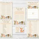 Woodland Forest Animals Neutral Baby Shower Games Pack - 6 Printable Games #A191