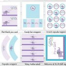Mod Elephant Owl Forest Friends Printable Baby Shower Party Package #A100