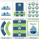 Nautical Sailboat Sail Away Printable Birthday Party Package #A198
