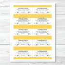 Sweet Little Bumble Bee Printable Baby Shower Diaper Raffle Tickets #A134