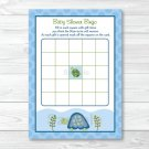 Sea Turtle Reef Printable Baby Shower Bingo Cards #A144