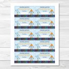 Baby Bots Robot Printable Baby Shower Diaper Raffle Tickets #A228