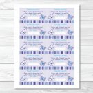 Lavender Butterfly Garden Printable Baby Shower Diaper Raffle Tickets #A218