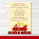 Fire Truck Fire Engine Dalmation Baby Shower Invitation Editable PDF #A230