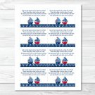 Sail Away Sailboat Nautical Blue Printable Baby Shower Book Request Cards #A123