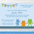 Baby Monsters Printable Baby Shower Invitation Editable PDF #A124