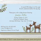 Willow Deer Blue Baby Boy Printable Baby Shower Invitation Editable PDF #A204