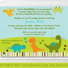 Baby Dinosaurs Printable Baby Shower Invitation Editable PDF #A264