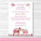Trendy Tropical Turtle Printable Baby Shower Invitation Editable PDF #A273