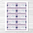 Pink Navy Chevron Printable Baby Shower Diaper Raffle Tickets #A277