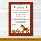 Cowboy Saddle Up! Printable Baby Shower Invitation Editable PDF #A284