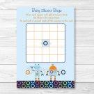 Baby Bots Robot Printable Baby Shower Bingo Cards #A228