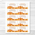 Lil Pumpkin Autumn Fall Harvest Printable Baby Shower Diaper Raffle Tickets #A248