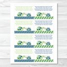 Mod Green Turtle Mom And Baby Printable Baby Shower Book Request Cards #A126