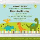 Baby Dinosaurs Printable Birthday Invitation Editable PDF #A140