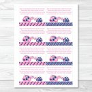 Mod Pink Turtle Mom And Baby Printable Baby Shower Book Request Cards #A286