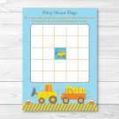 Construction Trucks Printable Baby Shower Bingo Cards #A117