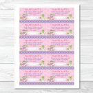 Pink Turtle Stacked Frog Printable Baby Shower Diaper Raffle Tickets #A217