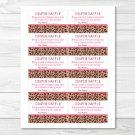 Pink Cheetah Print Printable Baby Shower Diaper Raffle Tickets #A251