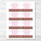 Pink Cheetah Print Printable Baby Shower Book Request Cards #A251
