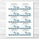 Blue Polka Dot Elephant Jungle Printable Baby Shower Diaper Raffle Tickets #A115