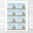 "Willow Deer Blue Printable Baby Shower ""Guess How Many?"" Game Cards #A204"